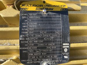 Brand new 15 hp baldor reliance motor three phase. for Sale in Manteca, CA