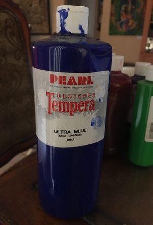 Pearl designer tempera paint ultra blue 32 oz bottle for Sale in Pembroke Pines, FL