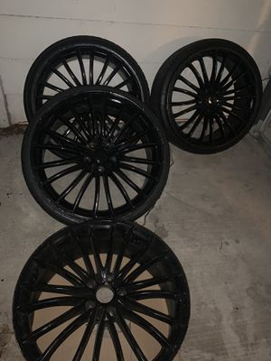 20 inch gloss black rims for Sale in DeSoto, TX