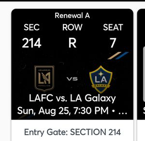 Lafc vs Galaxy for Sale in City of Industry, CA