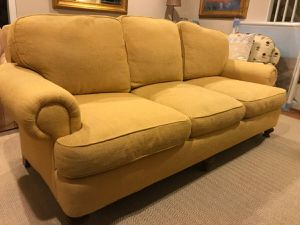 """Yellow 3 Seat Couch- Kings Road Collection by Taylor King 84""""x40""""x36.5"""" for Sale in Silver Spring, MD"""