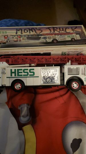 New hess truck toy truck with siren for Sale in Bristol, CT