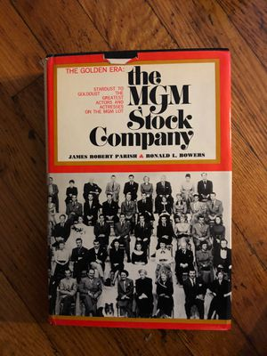 The MGM Stock Company The Golden Era Book for Sale in Linden, NJ