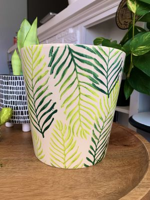 Farval Hand-Painted Leaf Plant Pot/Holder for Sale in Chicago, IL