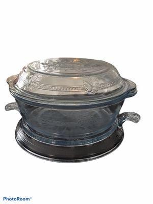 Antique Vintage Pyrex Fire King Sapphire Blue Casserole & Table Server Set for Sale in Mesa, AZ