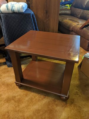 Brown wooden nightstand or end table or small coffee table in good condition 23in tall 27in wide 24in deep for Sale in Ocean Ridge, FL