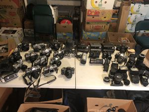 Huge vintage camera lot! Canon, Minolta and lenses! for Sale in Norfolk, VA