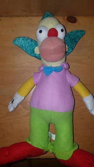 Krusty the clown plush for Sale in Bell Gardens, CA
