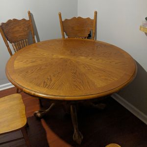 Table With Leaf With Chairs for Sale in Stone Mountain, GA