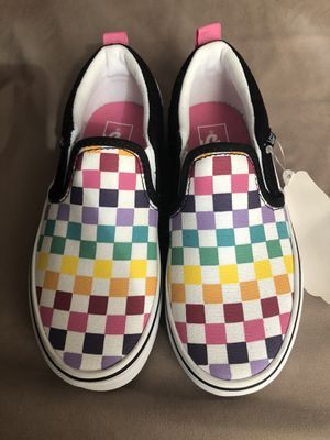 New Rainbow Checkered Vans for Sale in Inglewood, CA