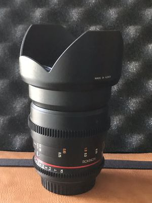Rokinon lenses for Canon EF for Sale in Los Angeles, CA