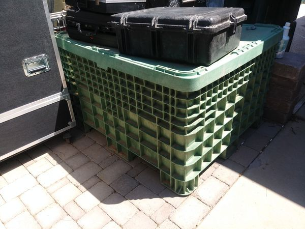 Large Military Shipping Creates with Forklift Wells