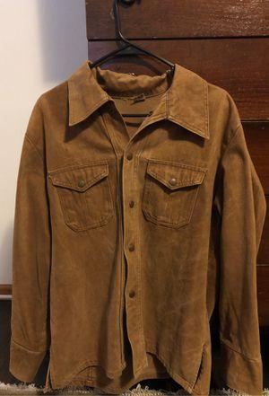 Vintage Montgomery ward suede ish button up western shirt/ jacket. for Sale in Virginia Beach, VA