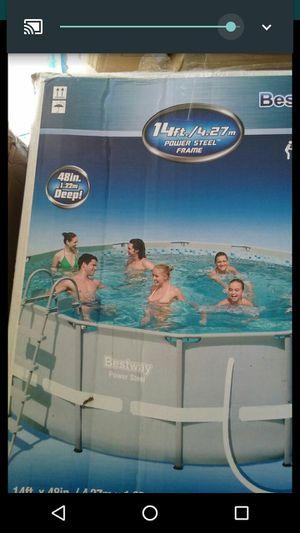"""Bestway Power Steel 14' x 48"""" Frame Pool for Sale in Columbus, OH"""