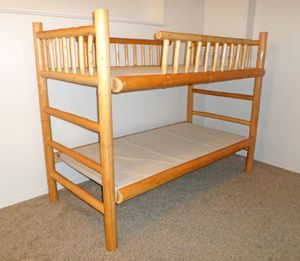 Sturdy Log Cabin-Style Bunk Bed - Delivered for Sale in Tacoma, WA
