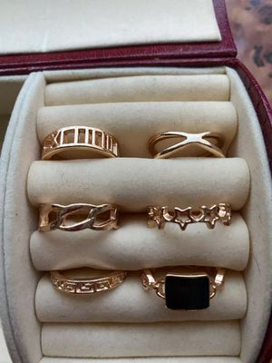 Multi Piece 18K Rose Gold Ring Set for Sale in Dallas, TX