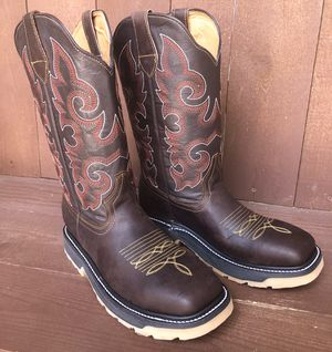 Work boots 🥾 real leather and density sole for Sale in Von Ormy, TX