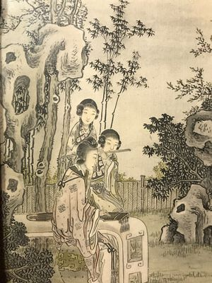 Antique Chinese Qing Dynasty framed paintings for Sale in Kennesaw, GA