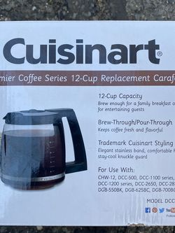 Cuisinart Coffee Carafe for Sale in Eatontown,  NJ