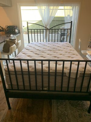 Serta Full Perfect Sleeper Mattress AND Bed Frame for Sale in Santee, CA