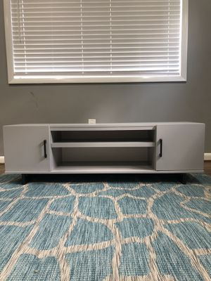 Grey 2 Door TV Stand for Sale in Silver Spring, MD