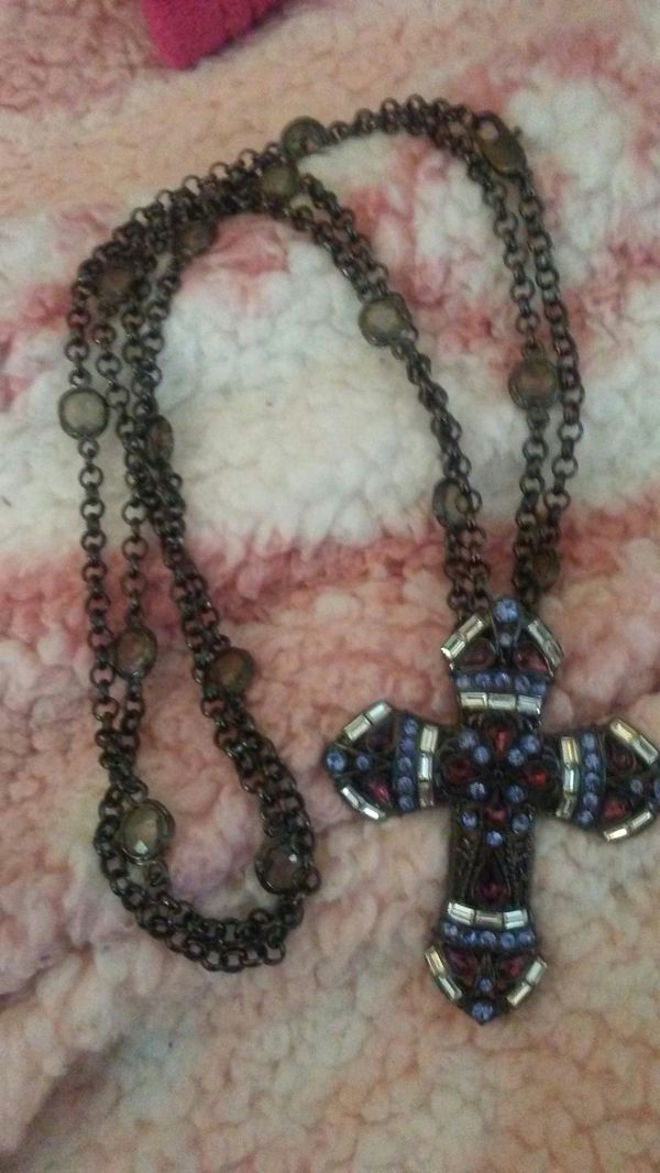 Crystal And Cz Cross
