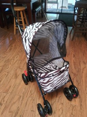 New zebra print dog stroller for Sale in Spring Hill, FL