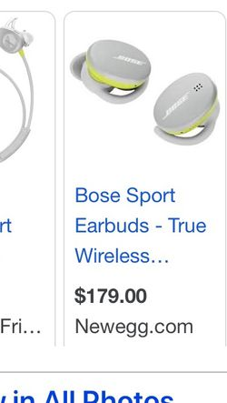 Bose Sound Sport Wire Less Buds for Sale in Henderson,  NV