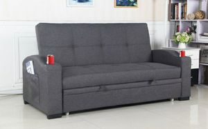 Sofa futon w/pulloutbed & cupholders for Sale in Jurupa Valley, CA