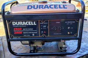 2000 watts Generator Made by Duracell for Sale in Riverside, CA