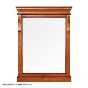 Home Decorators Collection Naples 24 in. x 32 in. Wall Mirror in Warm Cinnamon for Sale in Dallas, TX