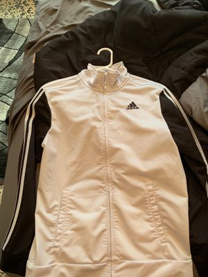 Adidas jacket while and black for Sale in Cabot, AR