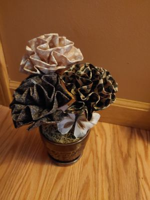 Material flower pot for Sale in Milton, PA