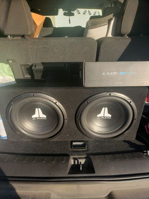 """JL Audio 12"""" speakers with 500 watt JL Audio amp all brand new w receipts for Sale in Hanford, CA"""
