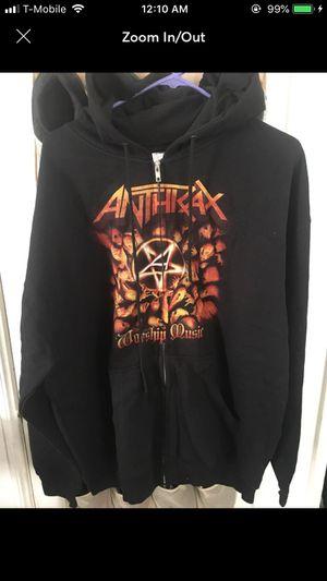 Anthrax Worship Music Zip up Sweater XL for Sale in San Bernardino, CA