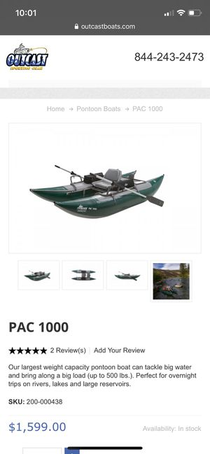 Used outcast fishing pontoon boat for Sale in Claremont, CA