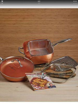 Copper chef pro pan set new in box for Sale in Tacoma, WA