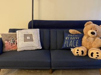Barely Used Mid Century Modern 3-Seater Couch, Blue for Sale in Sunnyvale,  CA