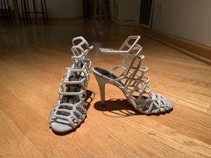Madden Girl Women's Silver Strappy Heel Sz 8 for Sale in Chicago, IL