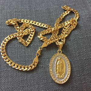 New 14k Gold Filled Cuban Link Chain Necklace with Pendant for Sale in Atlanta, GA