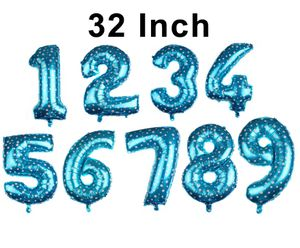 "32"" Number blue-color foil balloon for Sale in Perris, CA"