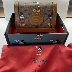 Authentic Gucci Mickey Mouse Card Case Wallet for Sale in Santa Ana, CA