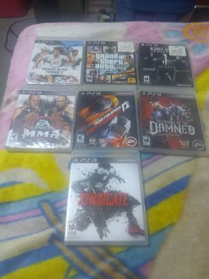 7 Game Ps3 Bundle for Sale in Fort Meade, FL