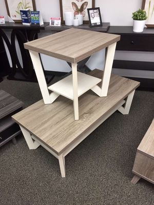 Grace Coffee Table, Dark Taupe and Ivory for Sale in Santa Fe Springs, CA