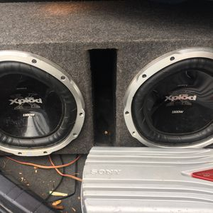 Two 12s And Amp for Sale in Philadelphia, PA