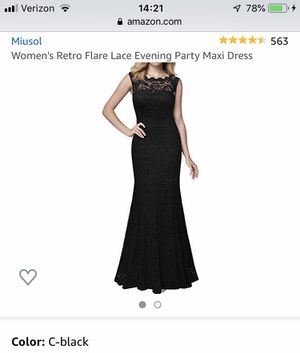 Miusol Black Formal Lace Evening Gown Size 2 for Sale in Washington, IL