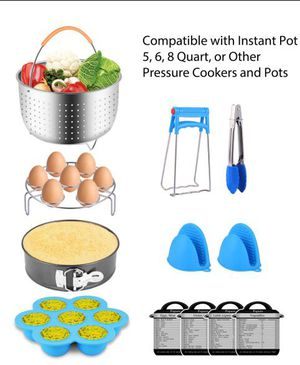 Accessories for pressure cooker and pots with steam basket and extra for Sale in Dublin, OH