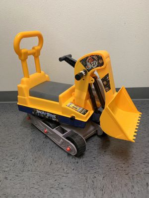 NEW IN BOX Toy Ride On Excavator Digger Pretend Play Contruction Truck Push Car with Work Helmet for Sale in Los Angeles, CA