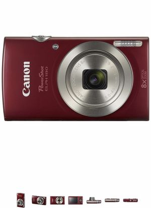 Canon PowerShot ELPH 180 Digital Camera w/Image Stabilization and Smart AUTO Mode (Red) for Sale in Maryland Heights, MO