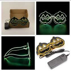 New Yellow Light Up Led Flashing Pumpkin Glasses for Sale in San Angelo,  TX